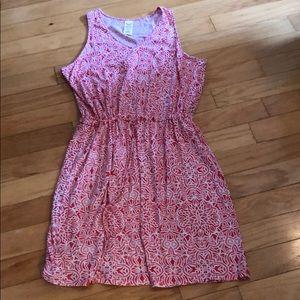 XL pink & white summer dress